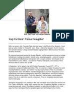 Iraq Trip Statement of Purpose
