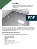 Types of Waterproofing