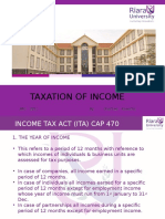 Taxation of Income