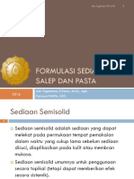 1. Formulasi Sediaan Salep Dan Pasta