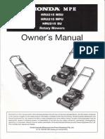 Honda Self Propel Mower - HRU215
