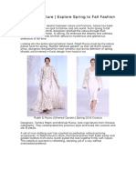 Reborn of Nature | Explore Spring to Fall Fashion For 2016