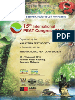 15th International PEAT Congress 2016 (2nd Circular)