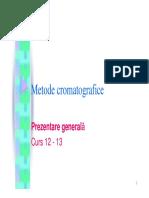 Cursul 12 13 Metode Cromatografice