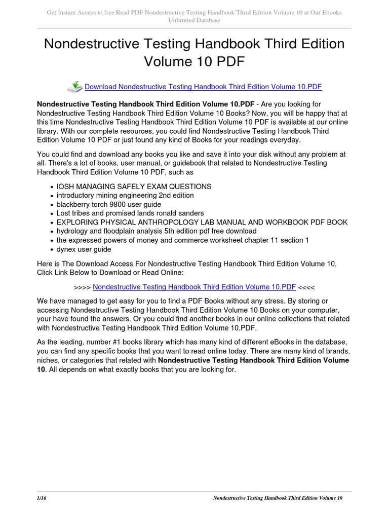Nondestructive testing handbook third edition volume 10 e books nondestructive testing handbook third edition volume 10 e books portable document format fandeluxe Image collections