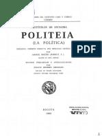 ARISTÓTELES Politeia (Política)