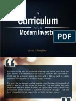 Investor Curriculum