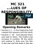 Tmc 321 - Values of Responsibility