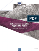 Behavioural Insights in Policy Making