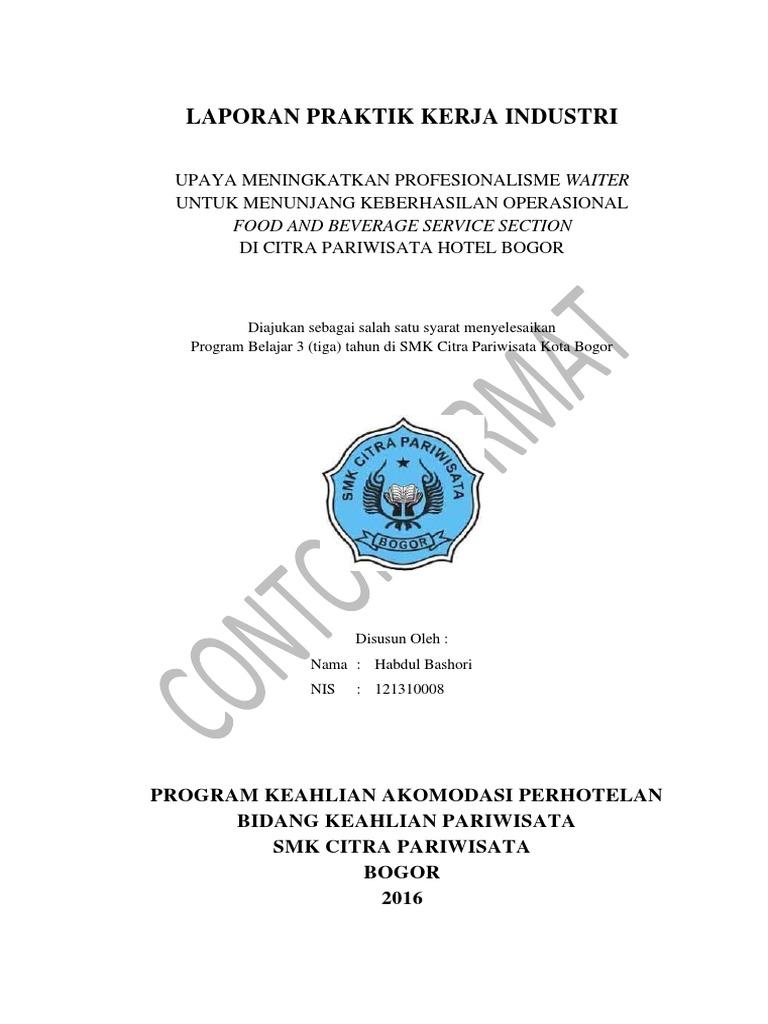 Format Laporan Prakerin 2016 Pdf