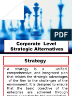 Corporate Level Strategic Alternatives