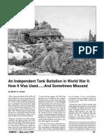 An Independent Tank Battalion in World War II - Marvin Jensen