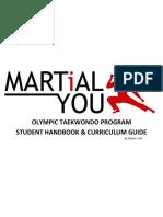 Taekwondo Program Handbook 10 Geup Curriculum