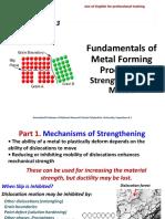 Fundamentals of Metal Forming Processes - Strengthening of Metals