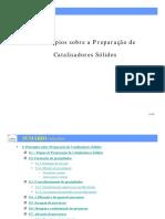 Preparação de Catalisadores