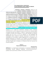 Acta Constitutiva Estatutaria EPSDC