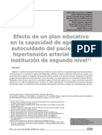 Efecto de Un Plan Educativo