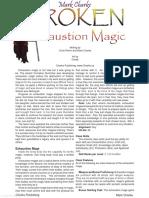 Broken Exhaustion Magic Print