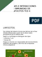 Funciones e Interacciones en Inmunidad de Linfocitos Tcd