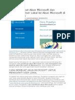Cara Membuat Akun Microsoft Dan Mengganti User Lokal Ke Akun Microsoft Di Windows 8