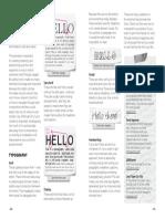 zine typography