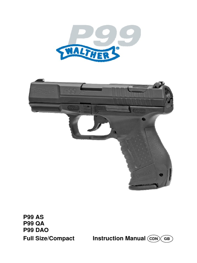 walther p99 manual trigger firearms handgun rh es scribd com Walther PK380 Walther PPS