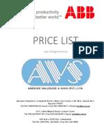 Abb Price ListABB PRICE LIST.pdf