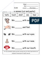 Life Science Worksheets - Your Body - The Five Senses