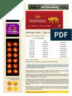 Características Do Signo Do Tigre - Horóscopo Chinês