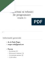 ATP - Curs 1-Pointeri Si Alocare Dinamica