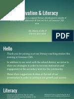 parent presentation - motivation   literacy