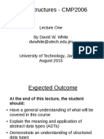 Data Structures Lecture 1 - Introduction 2013Aug27
