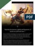 Azir - o Imperador Das Areias Shurima