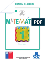 Matemática 1° basico, libro del docente
