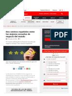 Dos Centros Españoles Entre Las Mejores Escuelas de Negocio Del Mundo