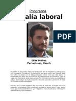 Programa Vocalía Laboral Elías Muñoz