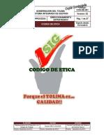 Codigo Etica Gobernacion Tolima