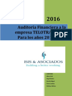 auditoria financiera Isis y Asociados