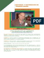 VARIABLES ALEATORIAS Y DISTRIBUCIÓN DE PROBABILIDADES
