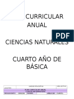 Plan Curricular Anual Ciencias Naturales 4to Va Cuarto