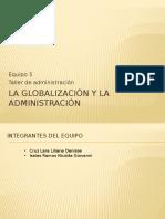 La Globalización y La Administración