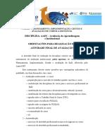 Atividade Final de Avaliação - Orientações - Instrumento de Avaliação Egressos Do Curso PIGEAD