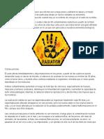 Qué Es La Radiación Nuclear