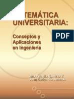 Matemática universitaria conceptos y aplicaciones en ingenierí