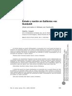 Estado y Nacion en Humboldt