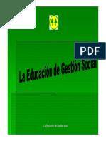 La Educacion de Gestión Social - Prof. Mónica Oporto