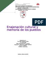 Enajenación Cultural y Memoria de Los Pueblos