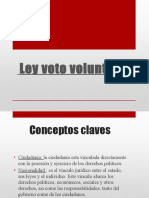 PPT Ley del voto voluntario en Chile