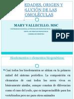 Origen y Evolucion de  Biomoleculas
