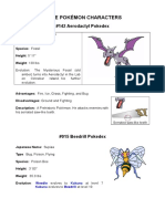 Pokémon Descriptions